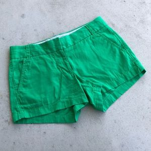 J. Crew Kelly Green Broken-In Cotton Chino Shorts